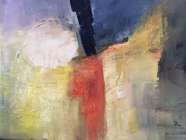 abstrait huile